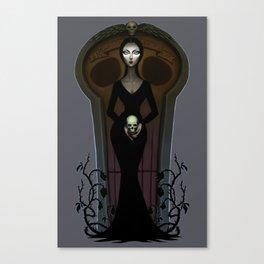 Morticia Addams Canvas Print