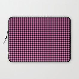 Mini Black and Pink Cowboy Buffalo Check Laptop Sleeve