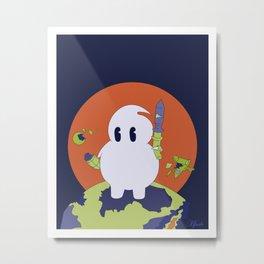 Ghost Invader Metal Print