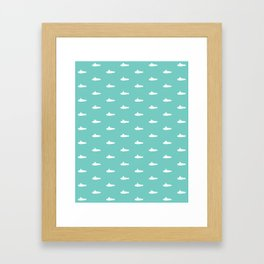 Tiny Subs - Teal Framed Art Print