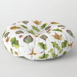 Magic of fall leaves Floor Pillow