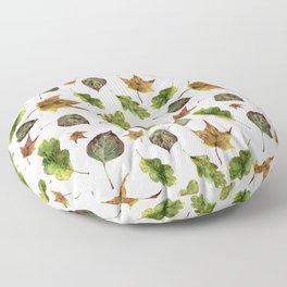 Magic of fall leaves Floor Pillow