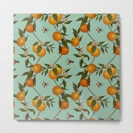Orange Pattern I Metal Print