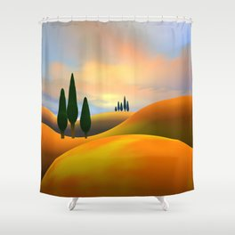 Hills and Pines Shower Curtain
