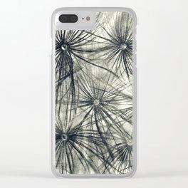 Dandelion 2 Clear iPhone Case