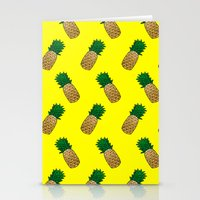 pineapples Stationery Cards featuring Pineapples by Ella Lama