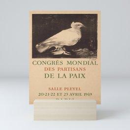 old placard congres mondial de la paix salle Mini Art Print