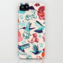 Hummingbird summerdance iPhone Case