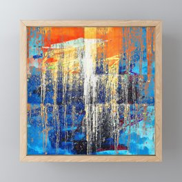 Golden Dawn, Abstract Landscape Art Framed Mini Art Print