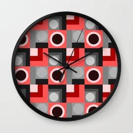Pink and Grey Geometric Wall Clock