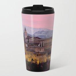 Alhambra at Sunset, Granada, Spain Travel Mug