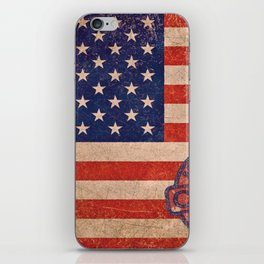 American Flag America USA US United States of America Patriotic Red White Blue Made In China iPhone Skin