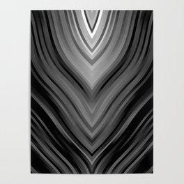 stripes wave pattern 3 bwbi Poster