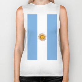 Flag Of Argentina Biker Tank