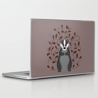 badger Laptop & iPad Skins featuring Badger by Sophie Mitchell