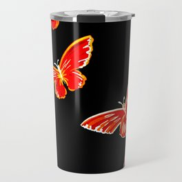 red and black butterflies Travel Mug