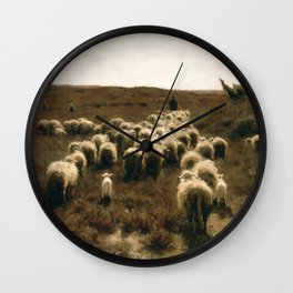 The Return of the Flock, Laren by Anton Mauve Wall Clock