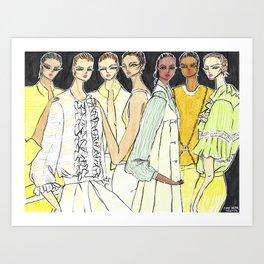 Fashion By the Sea – Original Fashion art, Fashion Illustration, Fashion wall art Art Print