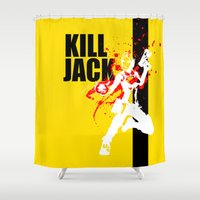borderlands Shower Curtains featuring KILL JACK - SIREN by Resistance
