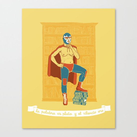 Lucha Library Canvas Print