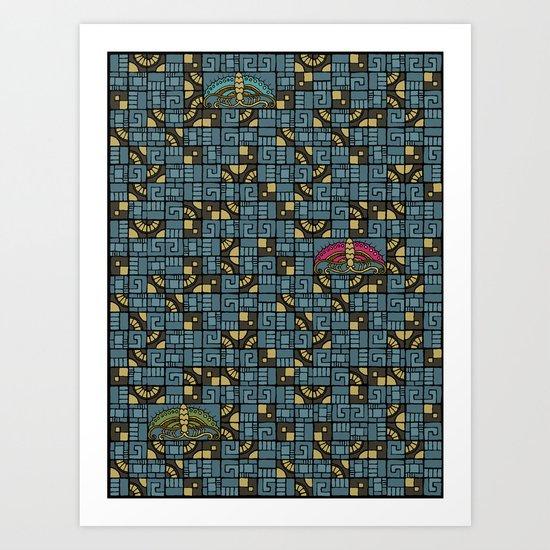 Butterfly's Journey Art Print