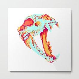Bear Skull Metal Print
