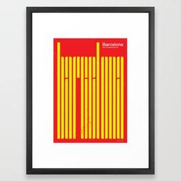 Barcelona - such a beautiful horizon Framed Art Print