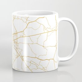 MOSCOW RUSSIA CITY STREET MAP ART Coffee Mug