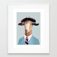 goat Framed Art Prints featuring Goat by Animal Crew