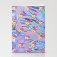 holographic Stationery Cards featuring Nail Polish Emoji Holographic by Andy Paik