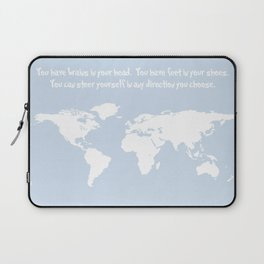 Dr. Seuss inspirational quote with earth outline Laptop Sleeve