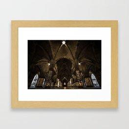 Glasgow University Cloisters Framed Art Print