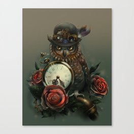 Sir Owl. Steampunk Canvas Print