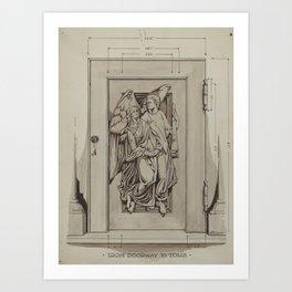 Iron Doorway to Tomb - Thomas Byrne - Vintage Architecture Art Print