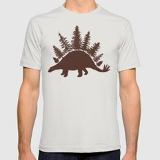 Stegoforest  Mens Fitted Tee Silver MEDIUM