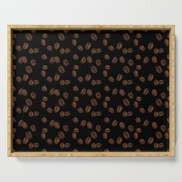 Coffee Beans - Black Serving Tray