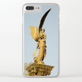Angel of the Parc Montsouris Clear iPhone Case