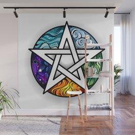 Bright Pentagram Wall Mural