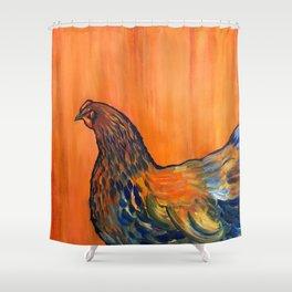 Orange Chicken Shower Curtain