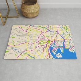 Tokyo Map Design Rug