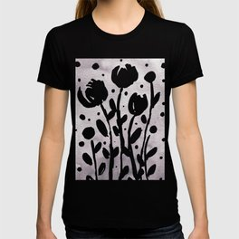 Whimsical watercolor flowers – light grey T-shirt
