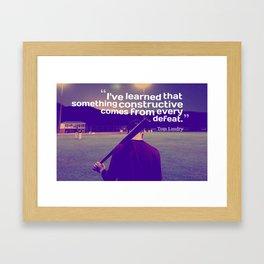 Ispirational Sports Quotes — Tom Landry Framed Art Print