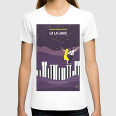 No756 My La La Land minimal movie poster Womens Fitted Tee X-LARGE White
