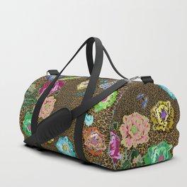 Leopard love flowers Duffle Bag