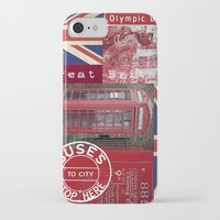 british flag iPhone & iPod Cases featuring Very British by LebensART