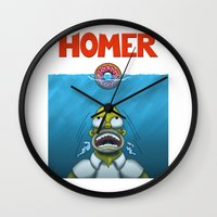 homer Wall Clocks featuring HOMER by BC Arts