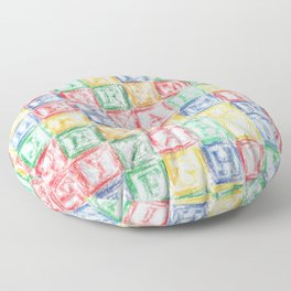 Children's Blocks Floor Pillow