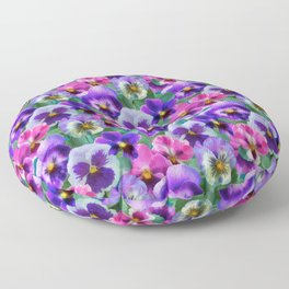 Bouquet of violets I Floor Pillow