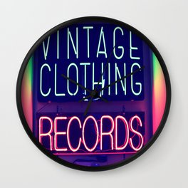 Vintage Clothing Records Wall Clock