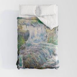 Waterfall - John Henry Twachtman Comforters